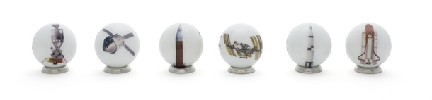 Spaceship Marbles - Set of 6