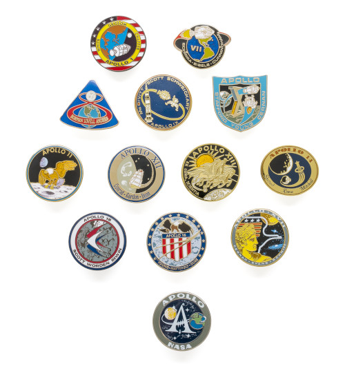 Apollo Mission Lapel Pin Set - Set of 13