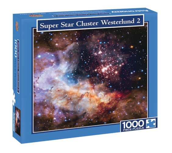 Super Star Cluster Westerlund 2 Puzzle - 1000pc