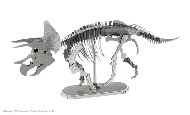 Metal Earth Triceratops Skeleton