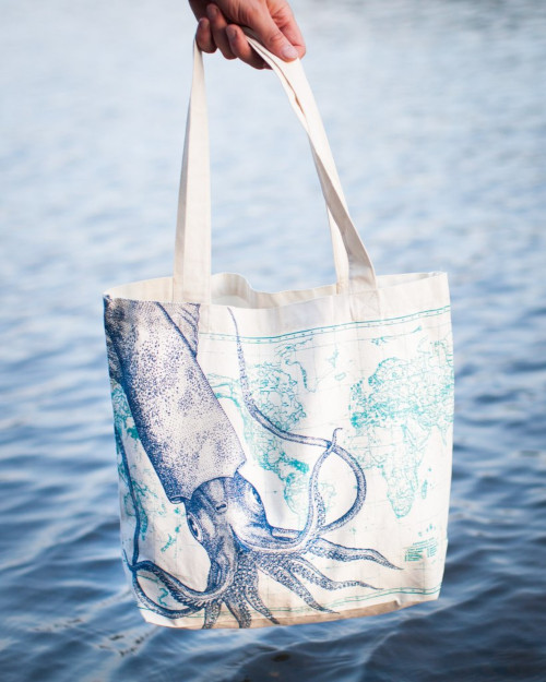 Deep Ocean: Squid Tote Bag
