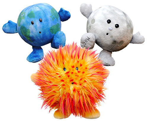 Celestial Buddies™ Plush Package - Sun Earth & Moon