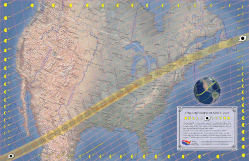 2024 Total Solar Eclipse Map