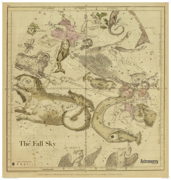 Antique Star Chart - The Fall Sky