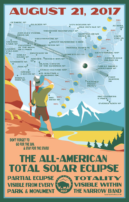 National Parks Eclipse 2017 Poster