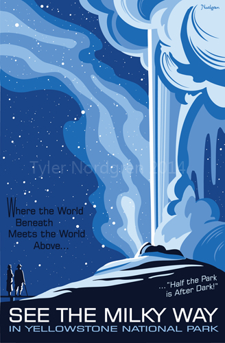 Milky Way - Yellowstone National Park Poster