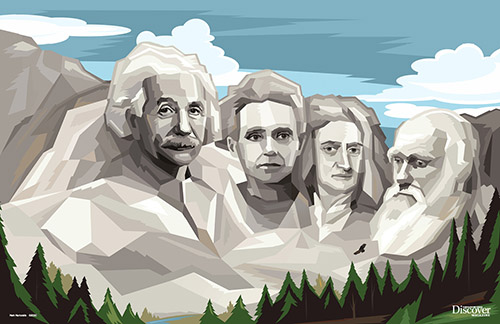 Heroes of Science Mount Rushmore Poster