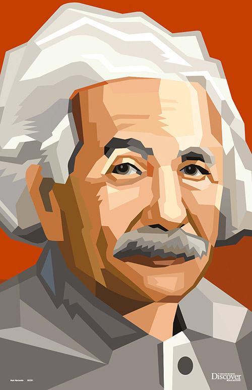 Heroes of Science Einstein Poster