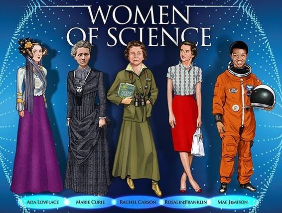 Five Women of Science Poster