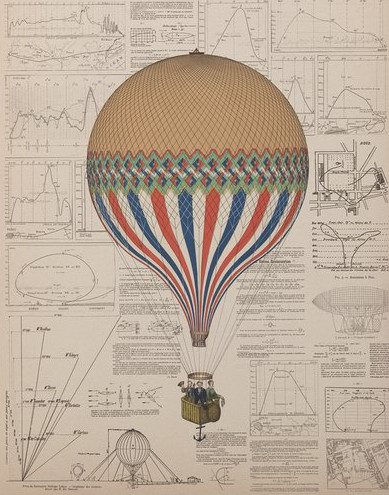 Tricolore Balloon Science Print