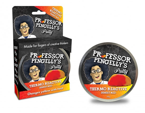 Professor Pengelly's Thermo Reactive Sunset Red Putty