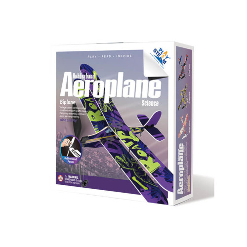 Rubber Band Aeroplane Science - Biplane