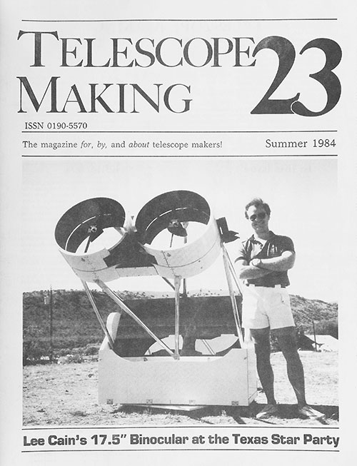 Telescope Making No. 23 (Summer 1984)
