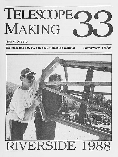 Telescope Making No. 33 (Summer 1988)