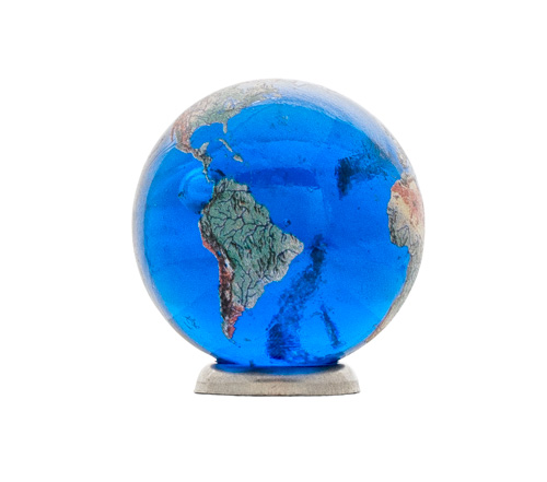 Blue Earth Marble with Natural Earth Continents