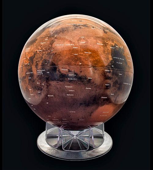 12 Inch Desktop Mars Globe From Astronomy Magazine