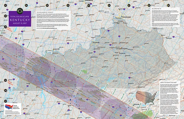 Kentucky 2017 Eclipse State Map