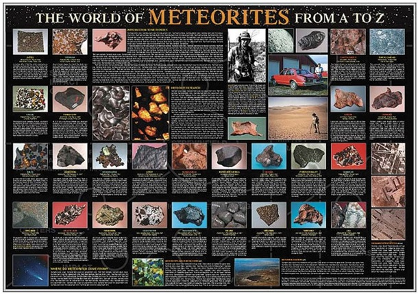 The World of Meteorites from A to Z Poster
