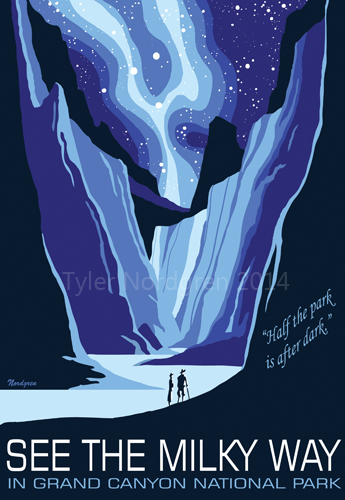 Milky Way - Grand Canyon National Park Poster