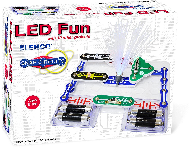 Snap Circuits Car Kit Wiring Diagram Circuit Extreme Led Fun Mini From Elenco Rh Myscienceshop Com Green